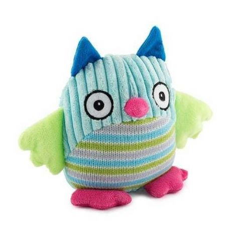 Ancol Knitted Owl Comforter Puppy Dog Toy